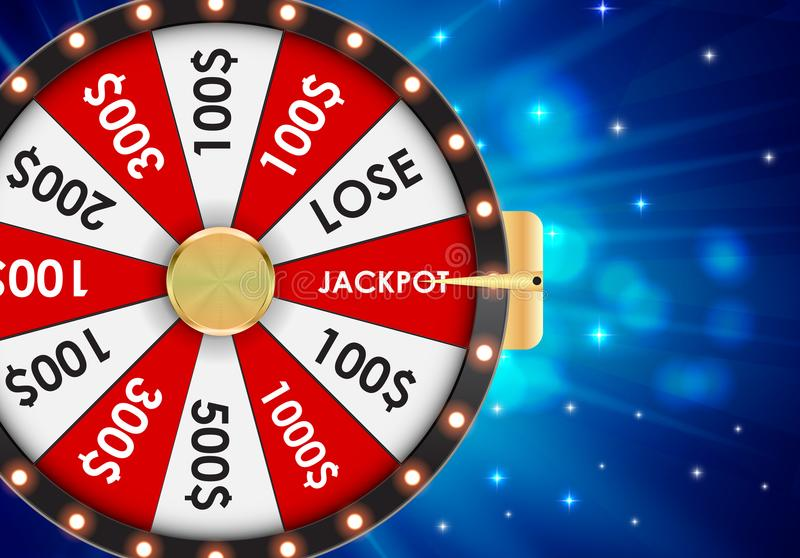 Wheel of Fortune, Lucky Icon with Place for Text. Vector Illustration. EPS10 vector illustration