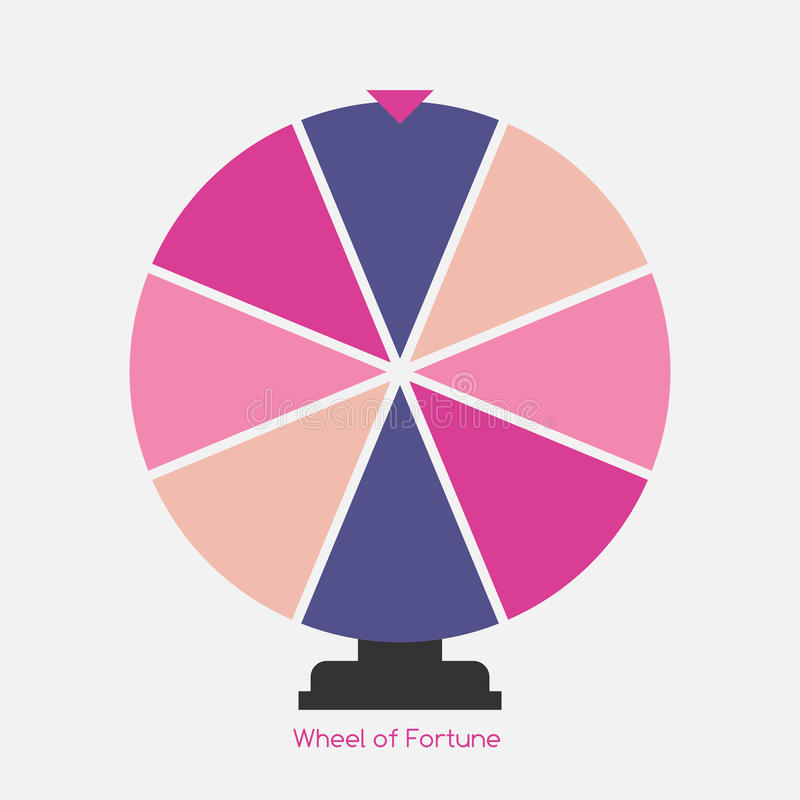 Wheel of Fortune, Lucky Icon. Vector Illustration royalty free illustration
