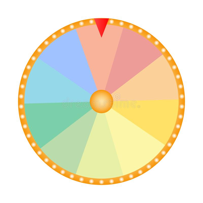 Wheel of fortune for the prize draw on a white background. Icon vector illustration