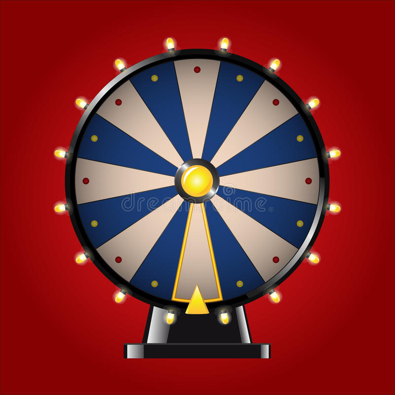 Wheel of Fortune - realistic vector modern image royalty free illustration
