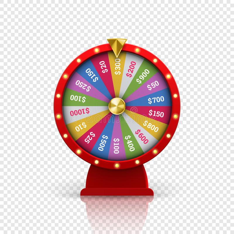 Wheel of fortune roulette vector gambling lottery royalty free illustration