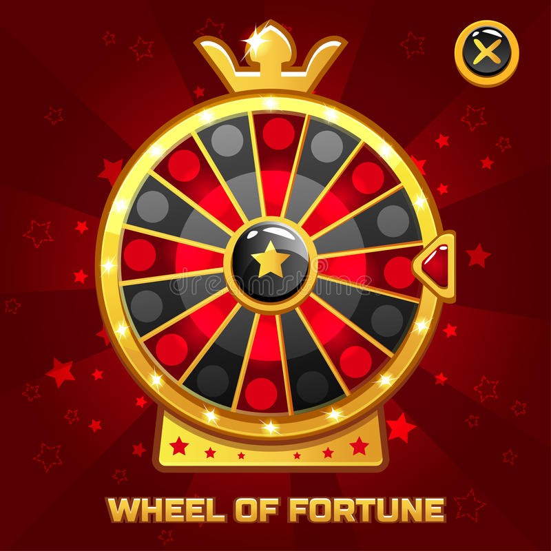 Wheel of Fortune For Ui Game royalty free illustration