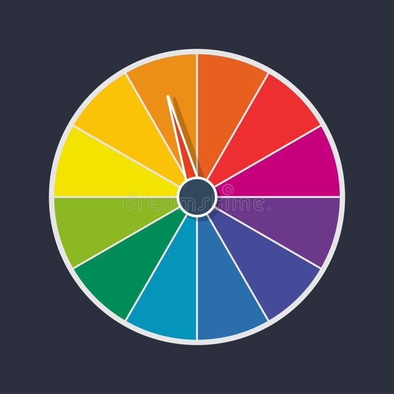 Wheel of fortune. Vector illustration royalty free illustration