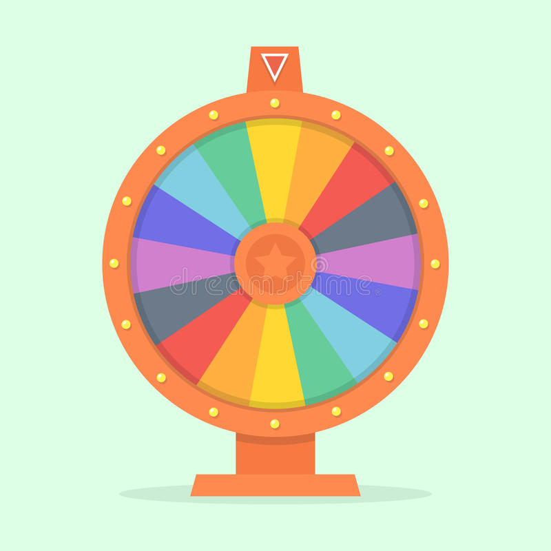 Wheel of fortune. Vector illustration of a flat. Colorful game wheel. Empty  isolated from the background. Wheel of chance concept.  flat design template vector illustration
