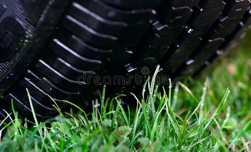 Download Wheel on the grass stock image. Image of tyre, rubber - 22850247