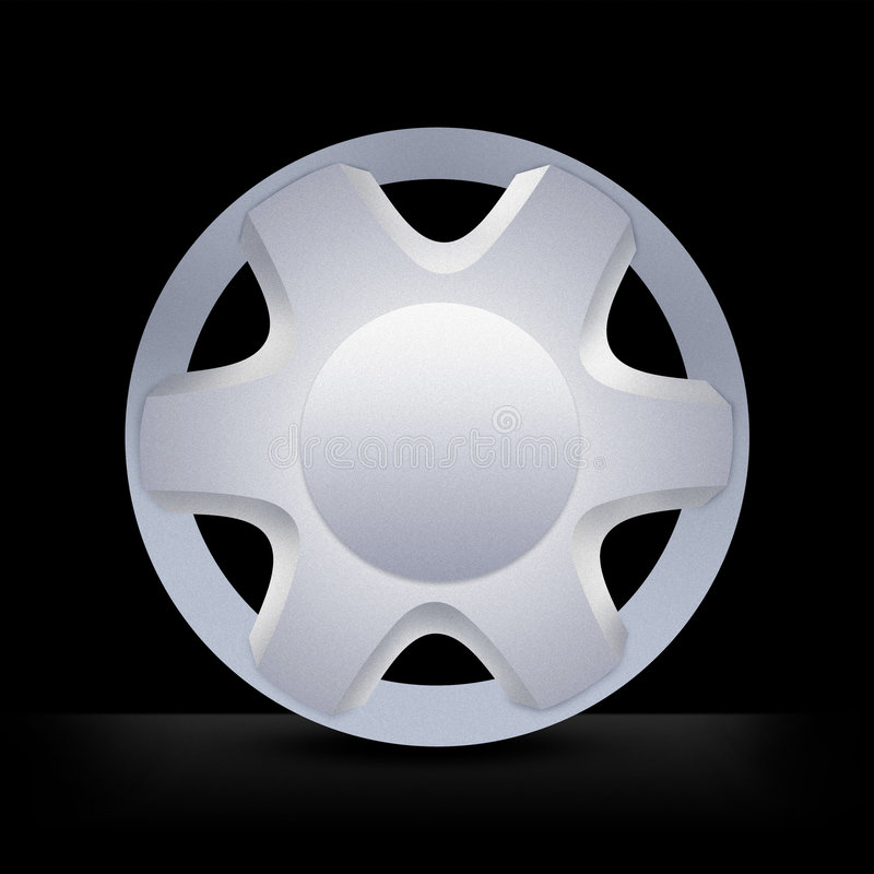 Wheel hubcap rim. Metallic alloy hubcap rim wheel royalty free stock photography