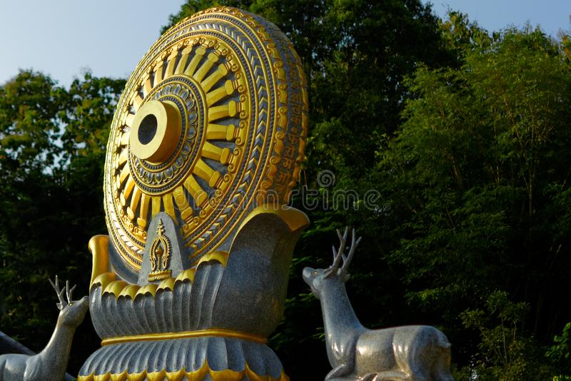 Wheel of life : Dhamma for Release. royalty free stock images