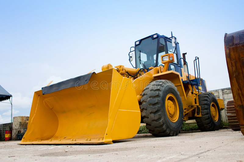 Wheel Loader Machine. In a construction site stock image
