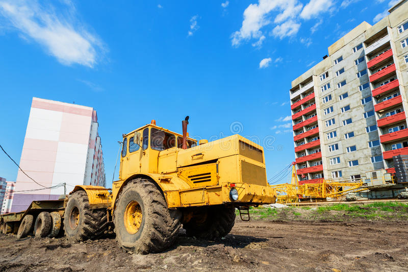 Wheel Machinery On Construction Site Stock Photos