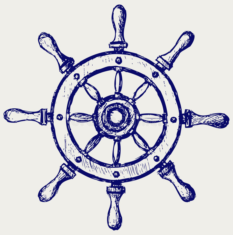 Wheel marine wooden vector illustration