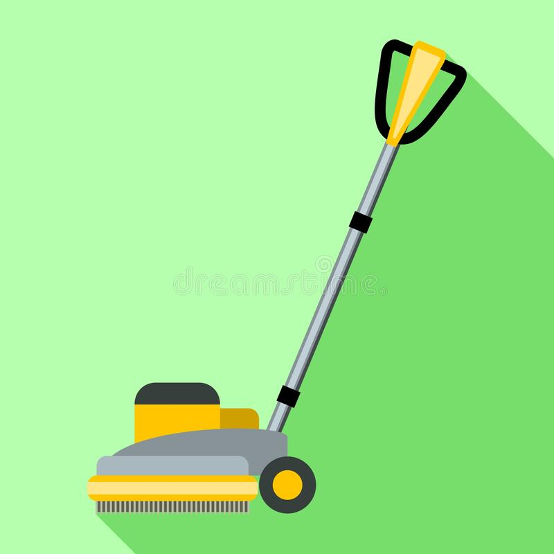 Wheel mop icon, flat style royalty free illustration