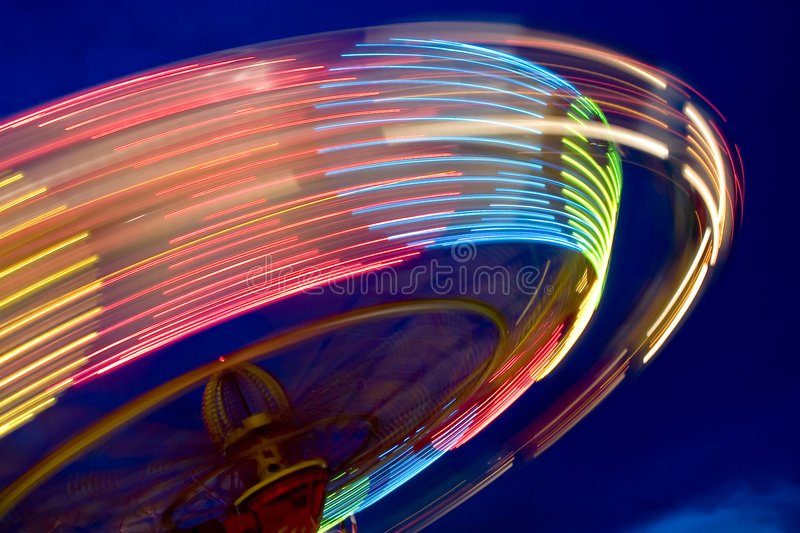 Wheel in motion stock images