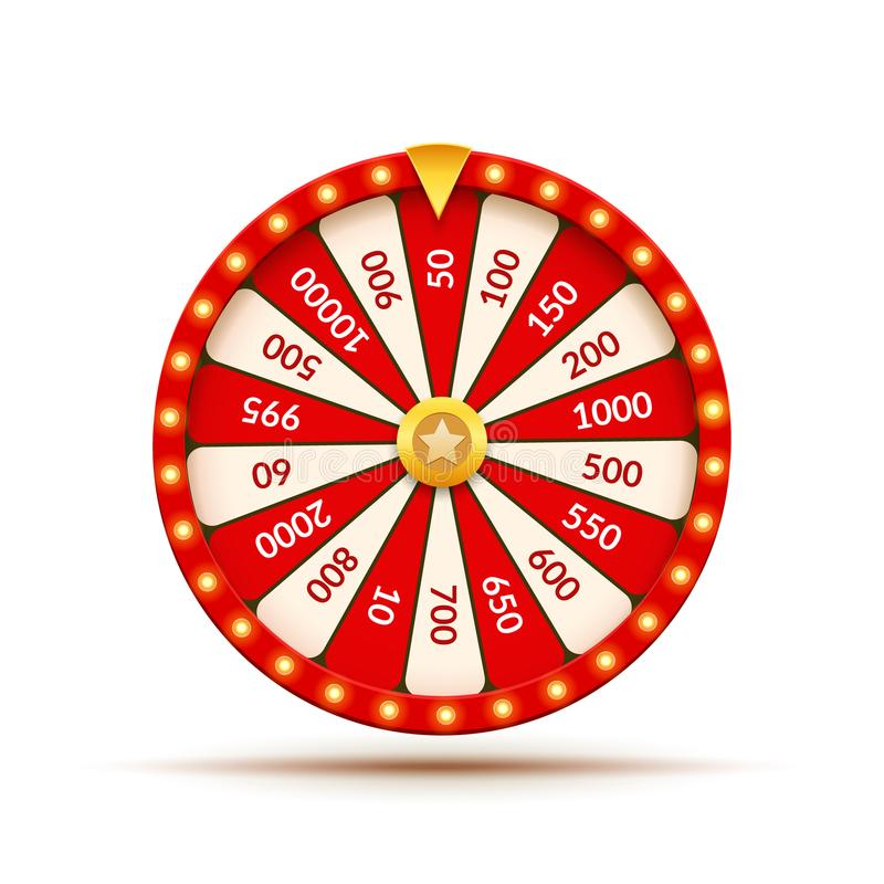 Free Wheel Of Fortune Lottery Luck Illustration. Casino Game Of Chance. Win Fortune Roulette. Gamble Chance Leisure Royalty Free Stock Photography - 117297177