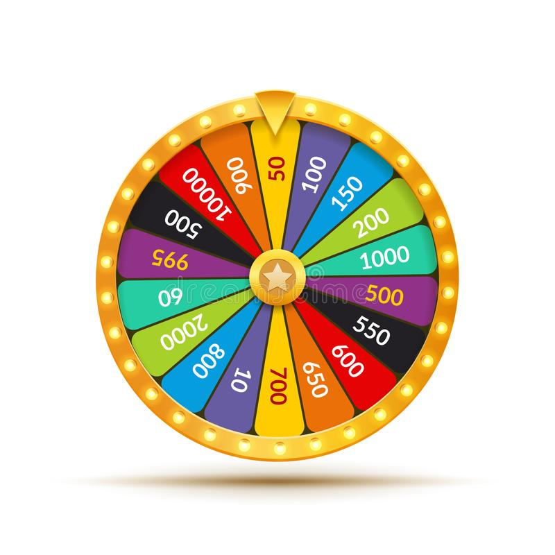 Free Wheel Of Fortune Lottery Luck Illustration. Casino Game Of Chance. Win Fortune Roulette. Gamble Chance Leisure Stock Photography - 117297622