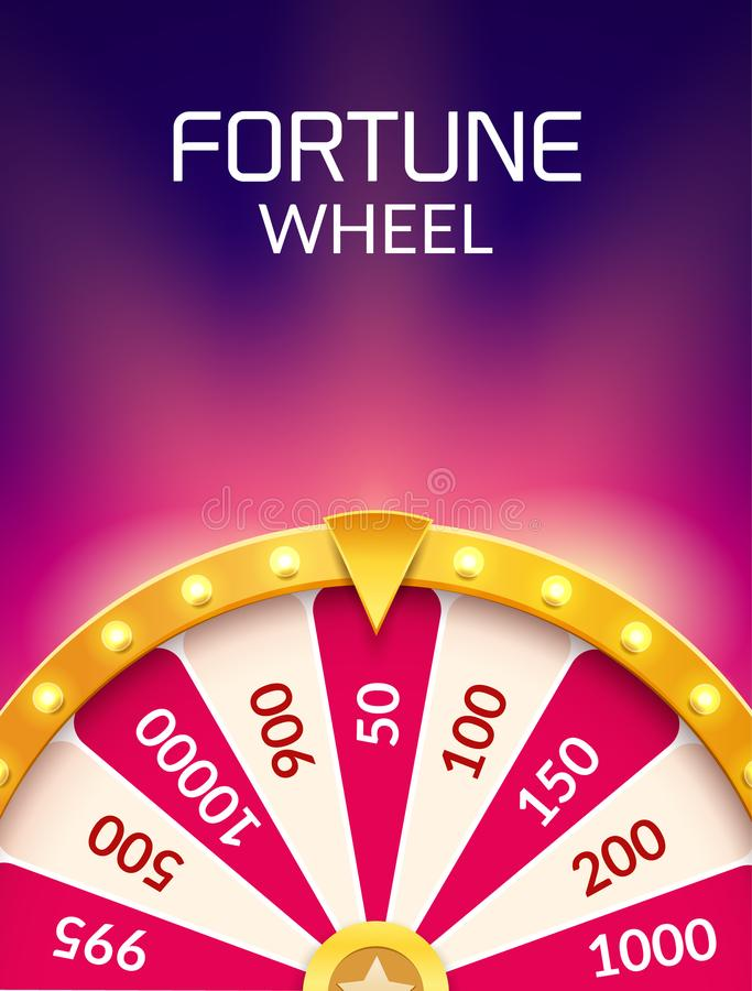 Free Wheel Of Fortune Lottery Luck Illustration. Casino Game Of Chance. Win Fortune Roulette. Gamble Chance Leisure Stock Images - 117298334