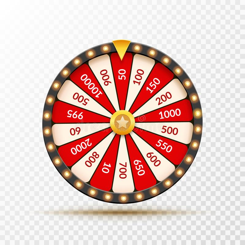 Free Wheel Of Fortune Lottery Luck Illustration. Casino Game Of Chance. Win Fortune Roulette. Gamble Chance Leisure Royalty Free Stock Photography - 121633827