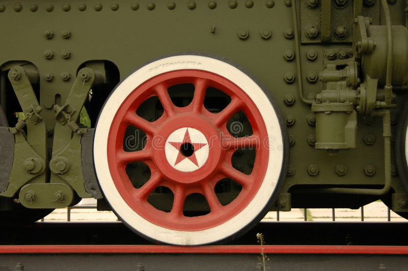 Wheel of old train royalty free stock photography