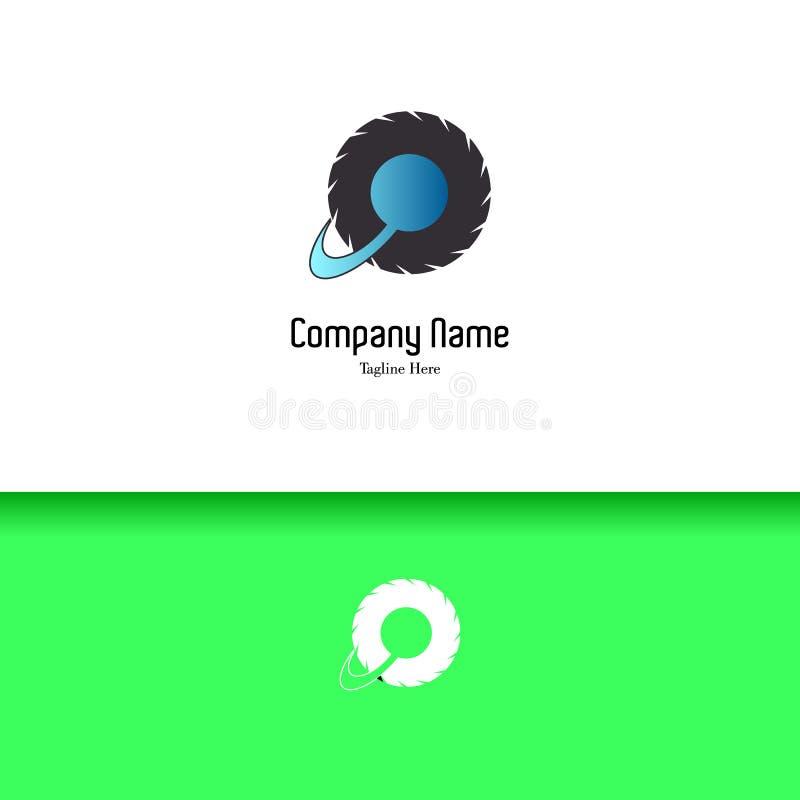 Wheel of planet lowercase flat logo design template vector illustration
