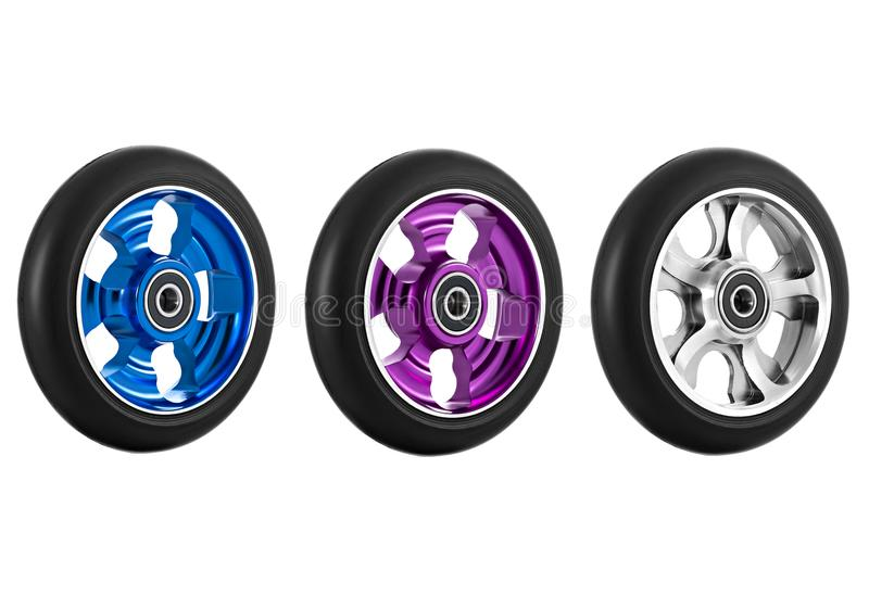 Wheel of scooter royalty free stock photo