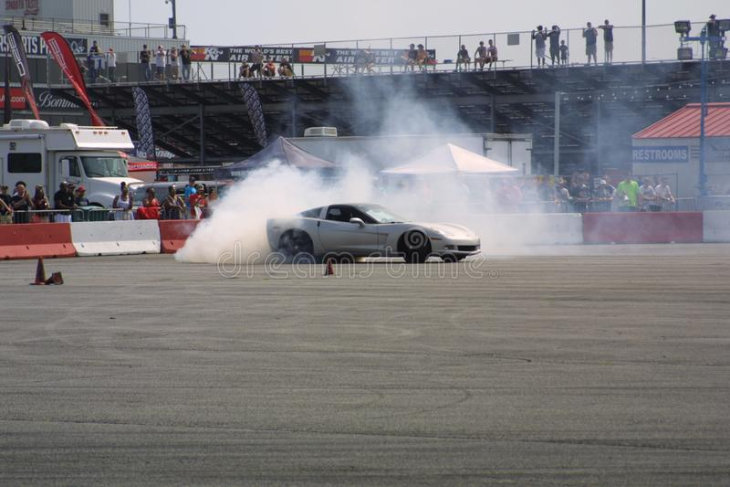 Gateway Motorsports Drift Car Burnout II royalty free stock image