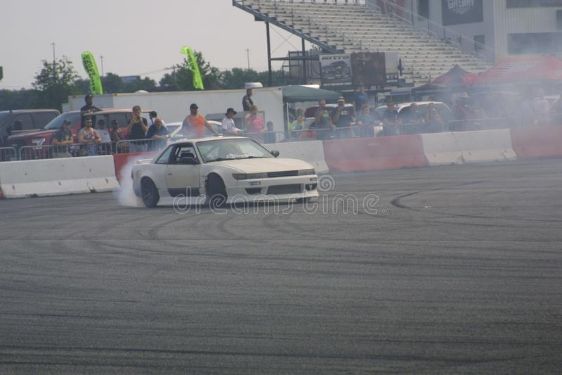 Gateway Motorsports Drift Car Burnout III stock photos