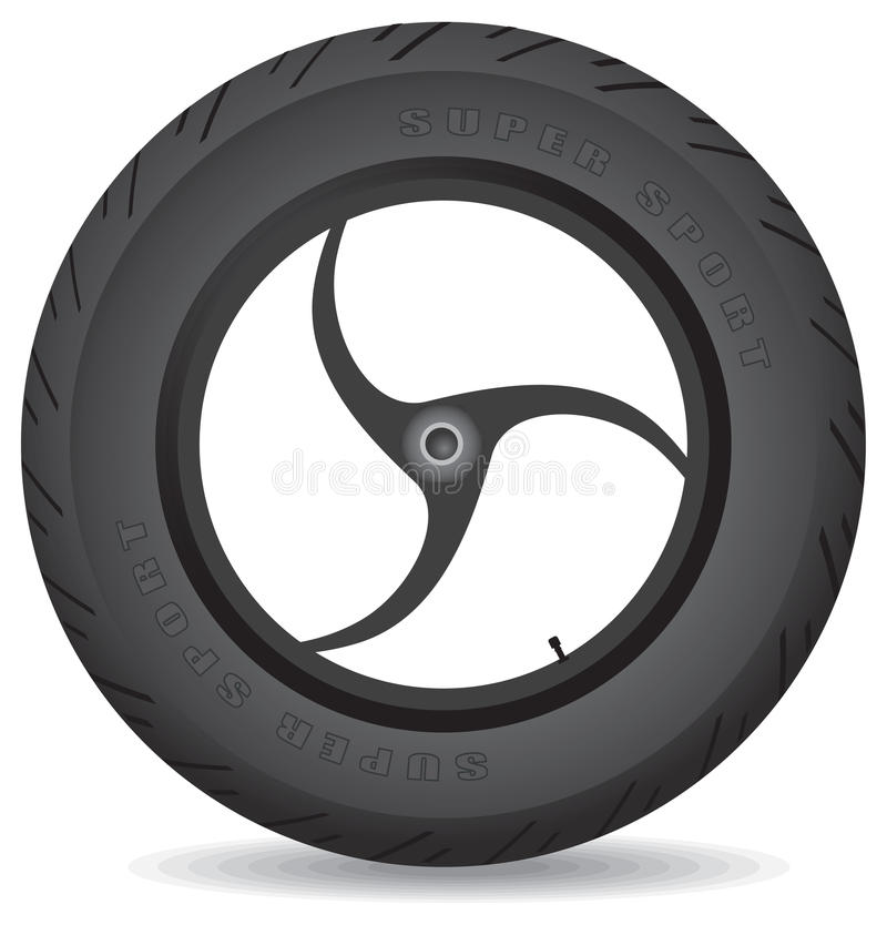 Download Wheel For A Sports Bike - Vector. Stock Vector - Image: 22463483