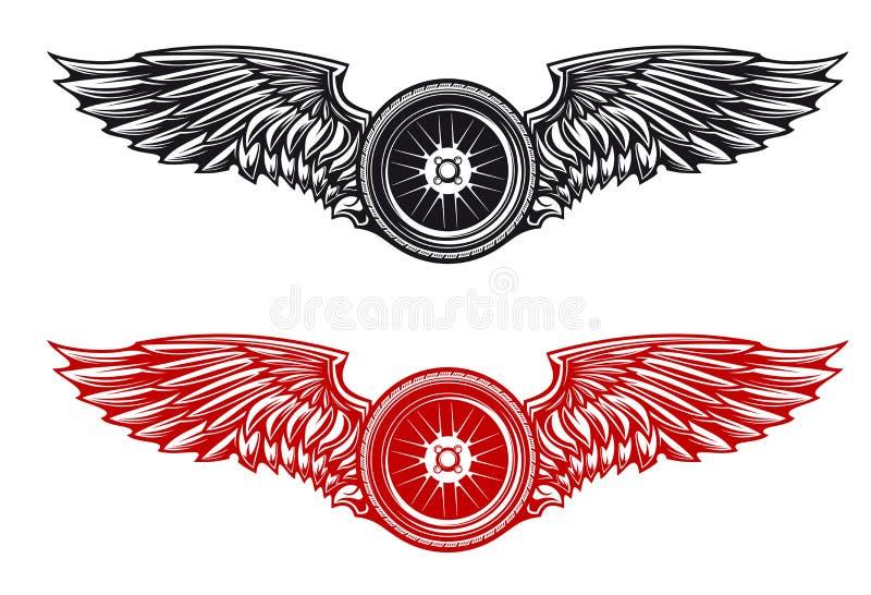 Wheel tattoo royalty free illustration