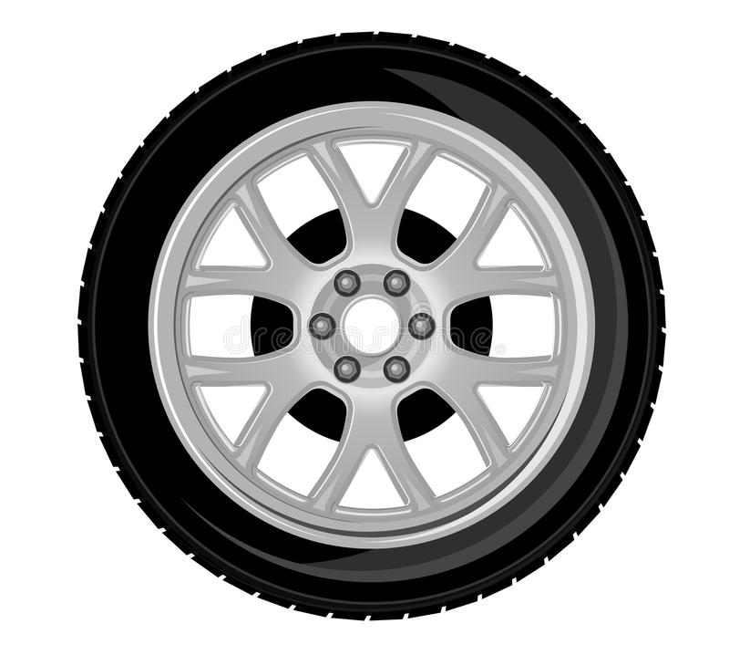 Wheel and tire. For transport or service design