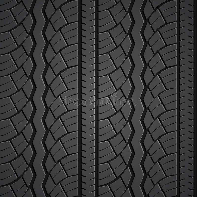 Wheel Tire Seamless Pattern Stock Vector Illustration Of