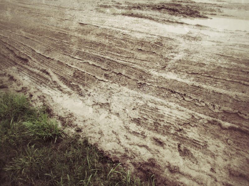 Wheel tracks. On the soil royalty free stock photo
