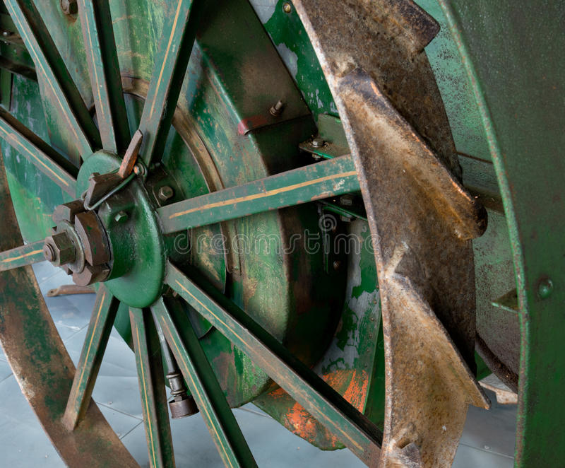 Wheel of tractor royalty free stock photography