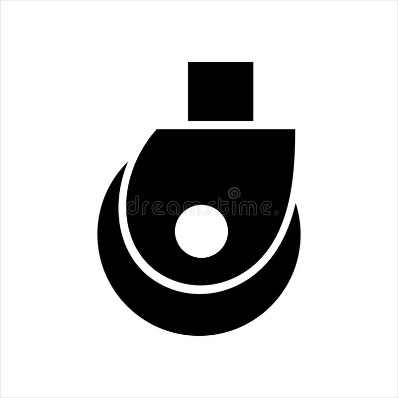 Wheel trolley. icon black isolated object vector illustration