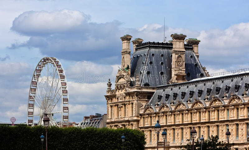 Download Wheel At The Tuileries Garden Of The Louvre, Paris Stock Photo - Image: 33041056