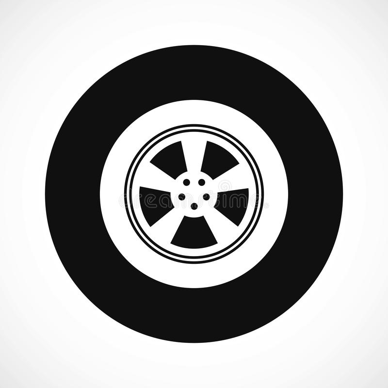 Wheel vehicle icon. vector stock illustration