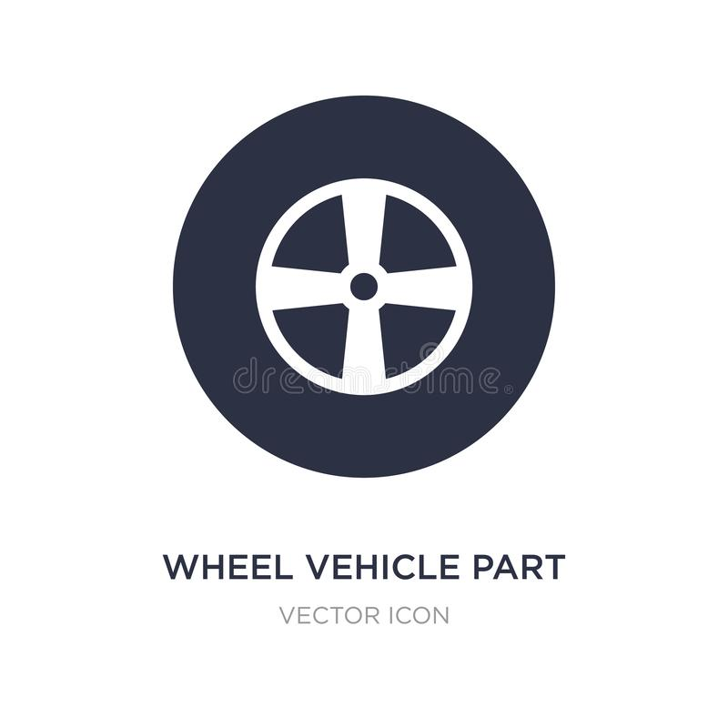 wheel vehicle part icon on white background. Simple element illustration from Transport concept vector illustration
