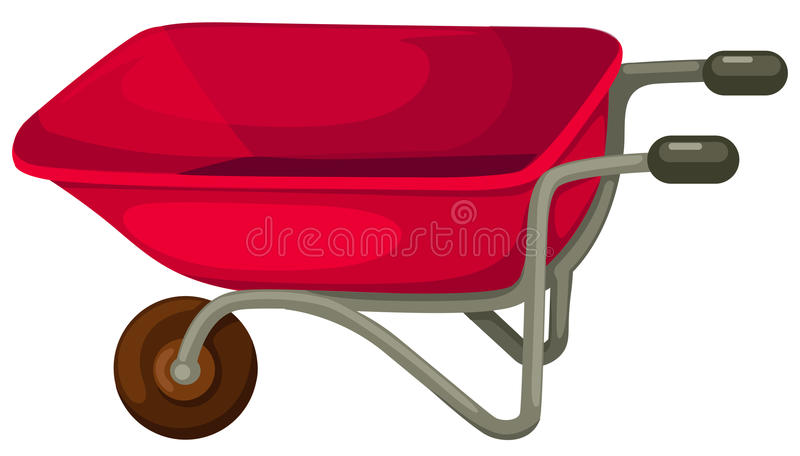 Wheelbarrow vector illustration