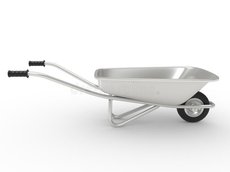 Download Wheelbarrow stock illustration. Image of isolated, metallic - 17272214