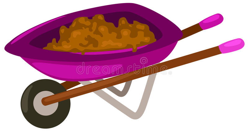 Wheelbarrow stock illustration