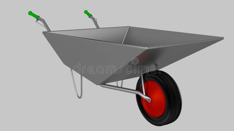 Wheelbarrow for construction, steel royalty free stock image