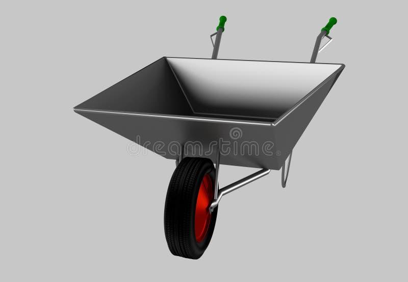 Wheelbarrow for construction, steel stock photos