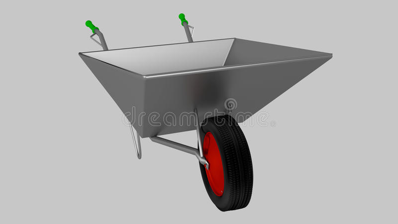 Wheelbarrow for construction, steel royalty free stock photos