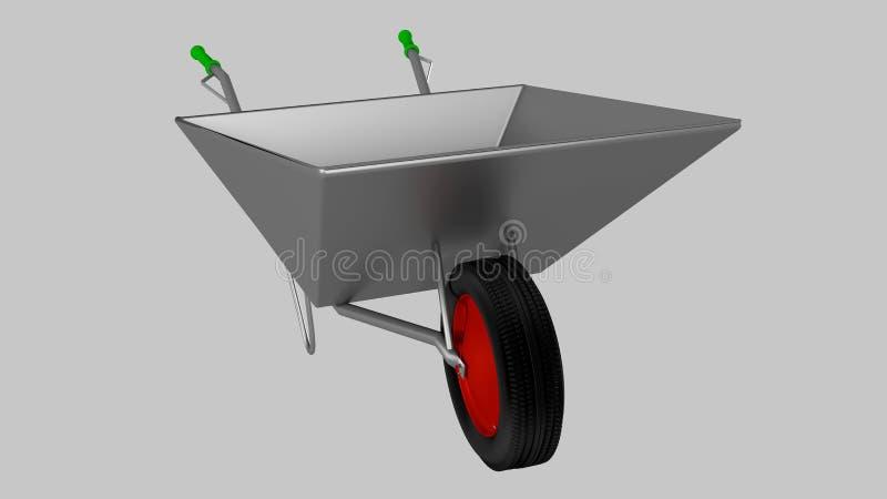 Wheelbarrow dla budowy, stal zdjęcia royalty free
