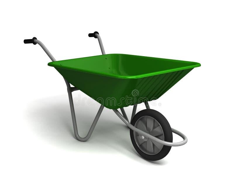 Wheelbarrow do jardim ilustração royalty free