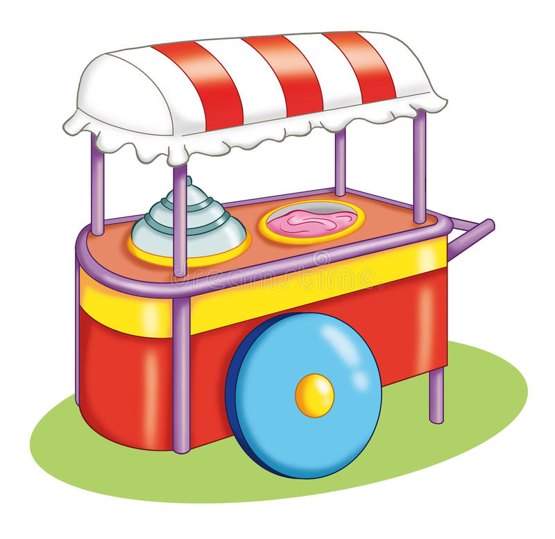 Download Wheelbarrow Of The Ice Cream Stock Illustration - Image: 16291934