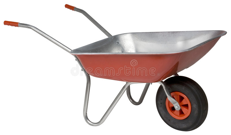 Wheelbarrow novo fotografia de stock