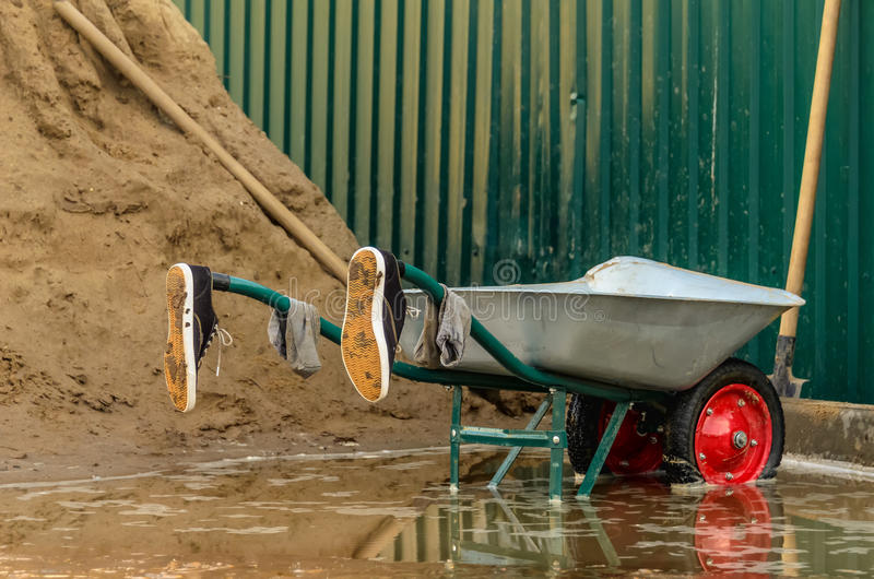 Download Wheelbarrows stock photo. Image of concepts, disaster - 37530140