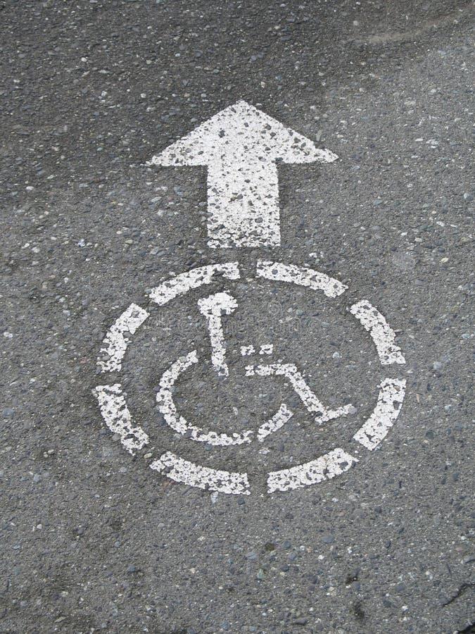 Wheelchair access sign stock photos
