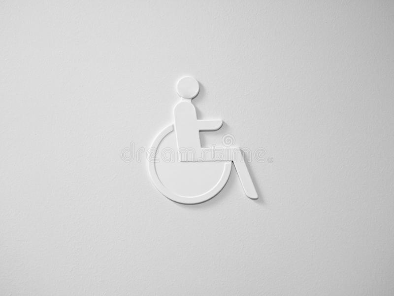 Wheelchair access in white royalty free stock photos
