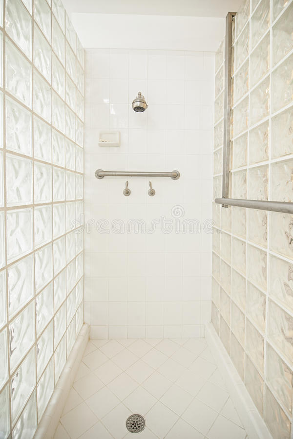 Wheelchair accessible shower royalty free stock photography