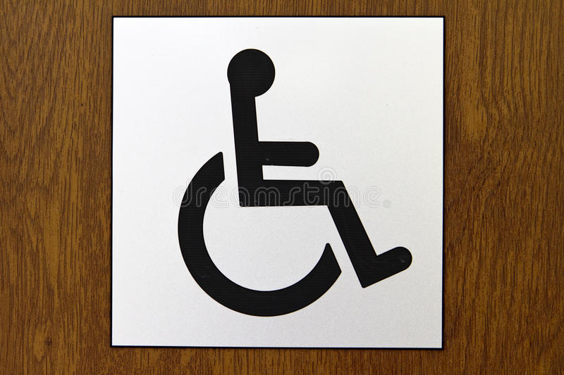 Wheelchair Accessible Sign Stock Image